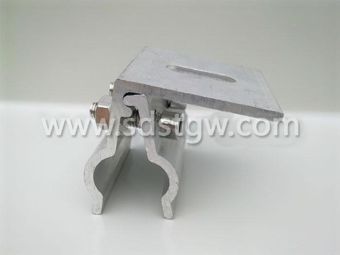 直立锁边铝镁锰板L夹具屋面转接夹具编码B003